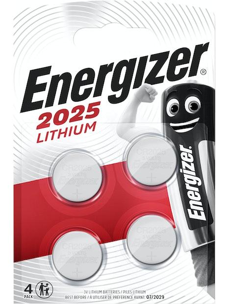 NAPPIPARISTO ENERGIZER CR2025 LITHIUM 4KPL