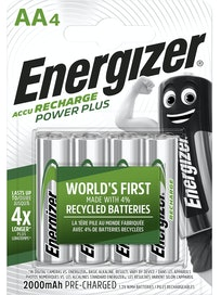 LADATTAVA PARISTO ENERGIZER POWER PLUS AA 2000 MAH 4KPL