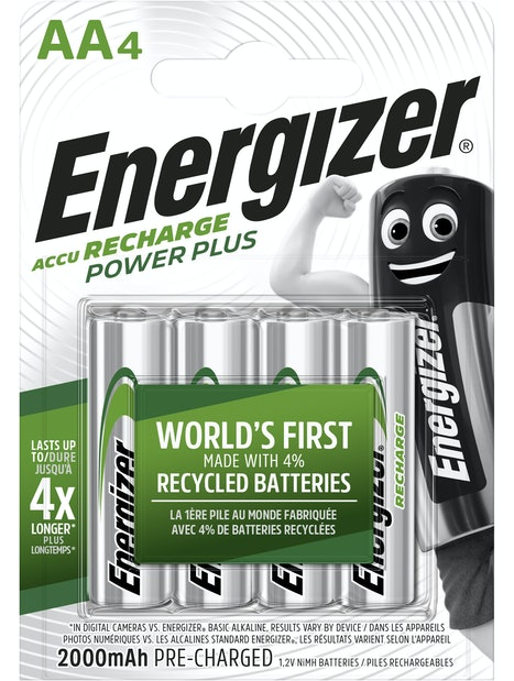 LADATTAVA PARISTO ENERGIZER POWER PLUS AA 2000 MAH 4KPL