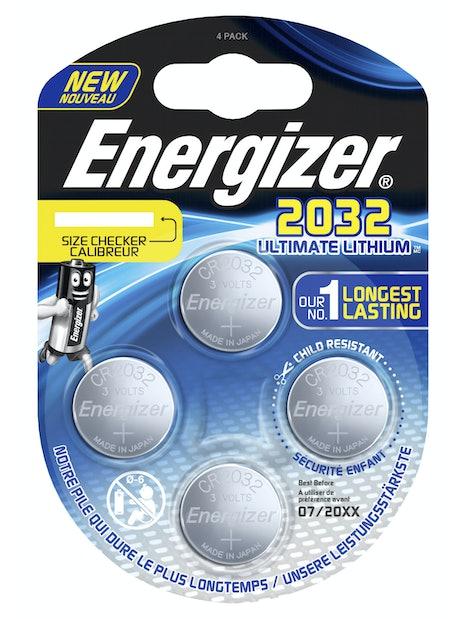 NAPPIPARISTO ENERGIZER CR2032 ULTIMATE LITHIUM PERFORMANCE 4KPL