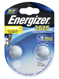 NAPPIPARISTO ENERGIZER CR2025 ULTIMATE LITHIUM PERFORMANCE 2KPL