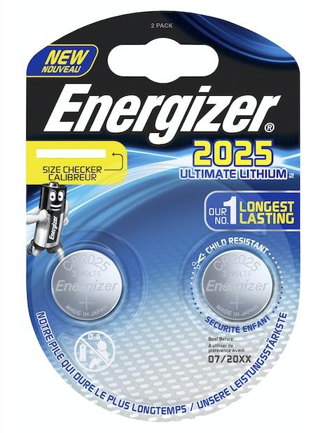 NAPPIPARISTO ENERGIZER CR2025 ULTIMATE LITHIUM PERFORMANCE 2KPL