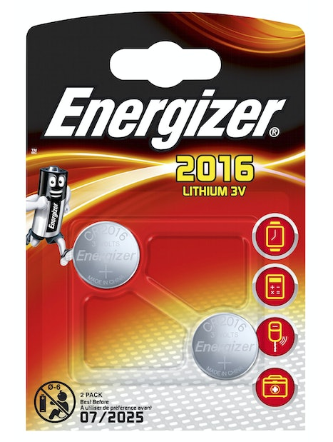 NAPPIPARISTO ENERGIZER CR2016 ULTIMATE LITHIUM PERFORMANCE 2KPL