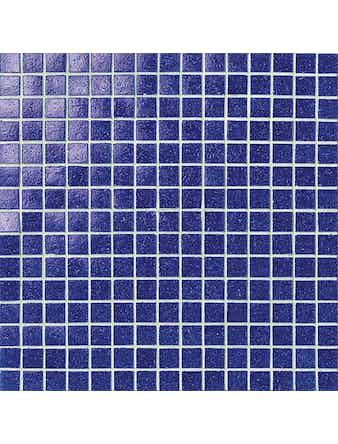 Glasmosaik Masterker 2x2 cm koboltblå i 32,7x32,7 cm ark