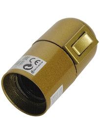 Патрон с выключателем Е27 71107, золотистый