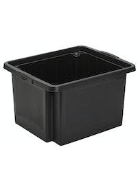 SÄILYTYSLAATIKKO H-BOX 23L MUSTA PINOTTAVA 35X42X23CM