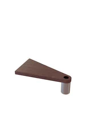 Extra Steg Fontanot Triangel Cube Line D.118 Krom/Mörk