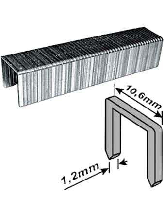 Скобы FIT закаленные 10,6мм 8мм 500 шт