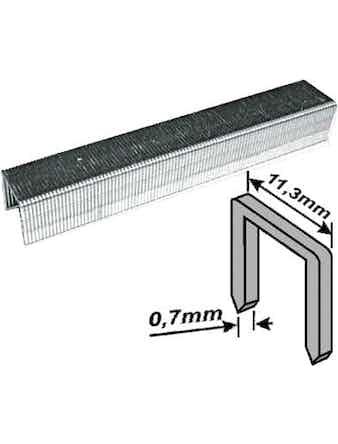 Скобы закаленные Профи, узкие, прямоугольные, ширина 11,3 мм, 8 мм 1000 шт.