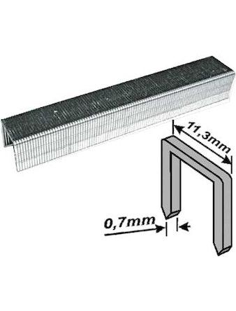 Скобы закаленные Профи, узкие, прямоугольные, ширина 11,3 мм, 12 мм 1000 шт
