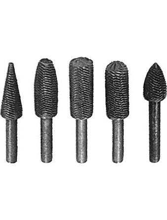 Шарошки металлические для фигурных отверстий, по металлу 5 шт.