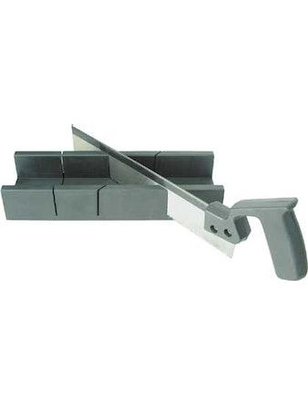 Стусло с пилой пластмассовое 300 мм х 65 мм (прямоугольное)
