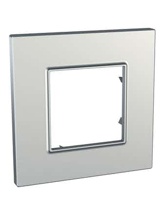 Рамка Unica Quadro одинарная, серебро
