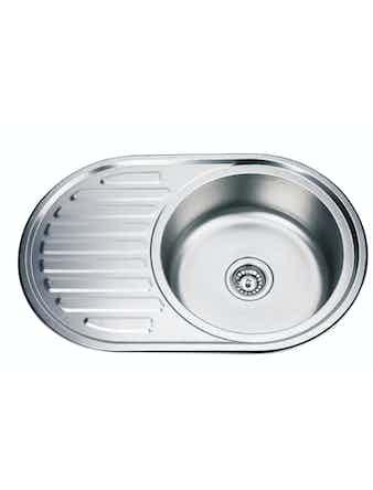 Кухонная мойка Thor D7750PF, полированная, 77 х 50 см