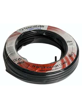 Kabel Gelia Fk 1.5 Svart 20m/Ring Ho7V-R
