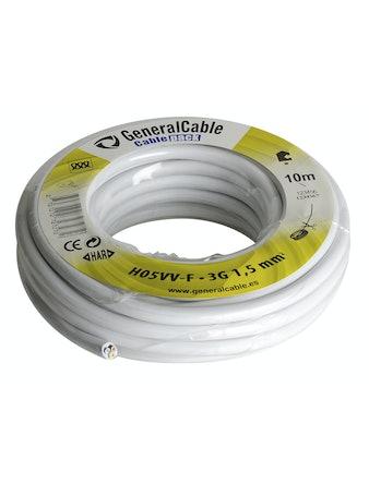 Kabel Gelia Rkk 3G1.5 Vit 10M/Ring H05Vv-F