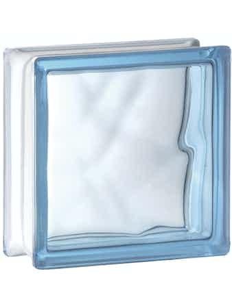 Glasblock Vetro Moln ljusblå