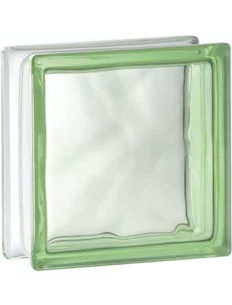 Glasblock Vetro Moln Grön