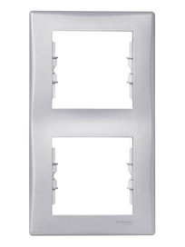 Рамка Sedna двойная, вертикальная, алюминий