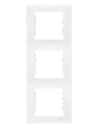 Рамка Sedna тройная, вертикальная, белая