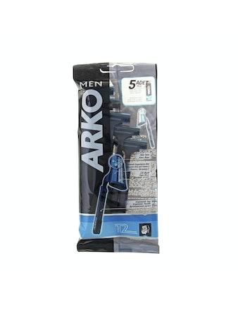 Бритвенный станок ARKO T2 одноразовый 2 лезвия 5 шт