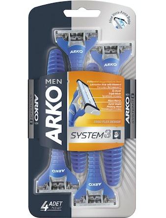 Бритвенный станок ARKO MEN System 3 3 лезвия 4 шт