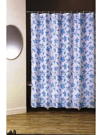 Штора для ванной Bloom, голубая, 180 х 200 см