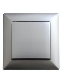 Выключатель 1-клавишный Visage, серебристый