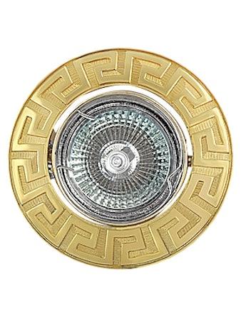 Светильник встраиваемый De Fran FT 116A G MR16, цвет золото
