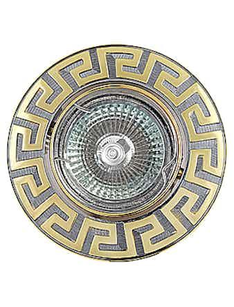 Светильник встраиваемый De Fran FT 116A CHG MR16, цвет хром с золотом