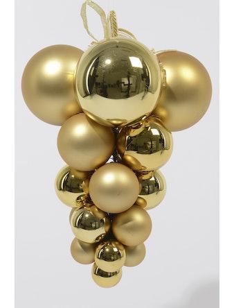 Гроздь шаров CELLO пластик золото 9020932 i