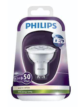 Reflektorlampa Philips Led 4.5W 50 Gu10