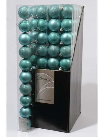 Набор шаров CELLO 10шт 6см пластик бирюза