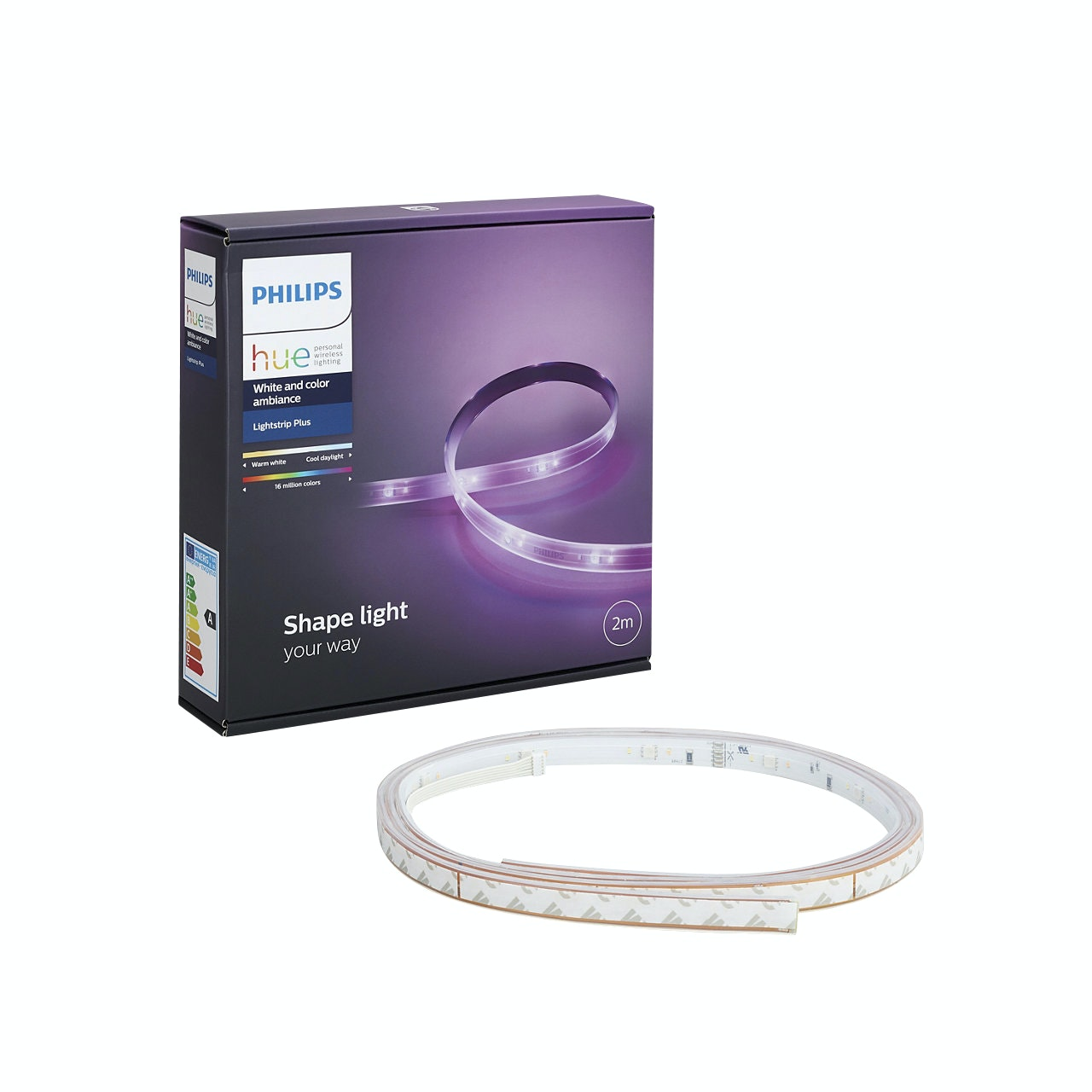 Led-Strip Philips Hue Plus Basenhet Ambiance 9.5W E27 Vit 2m