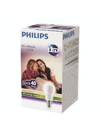 Led-Lampa Philips Inca E27 6W(40W) Frostad Standard
