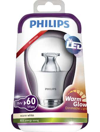 Led-Lampa Philips Warmglow E27 8,5W(60W) Klar Standard