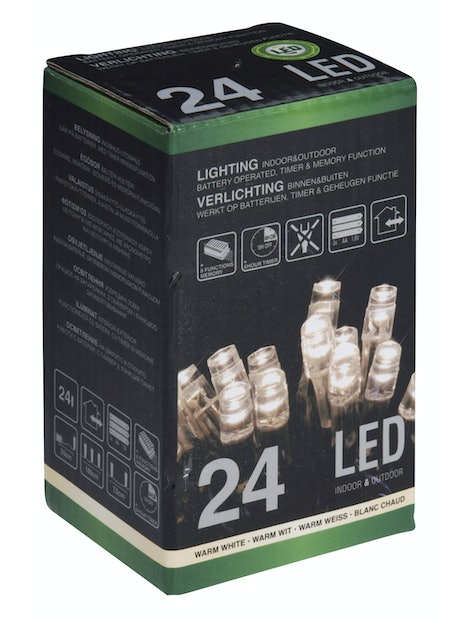 LED-VALOSARJA PARISTOLLA 24 LEDIÄ IP44