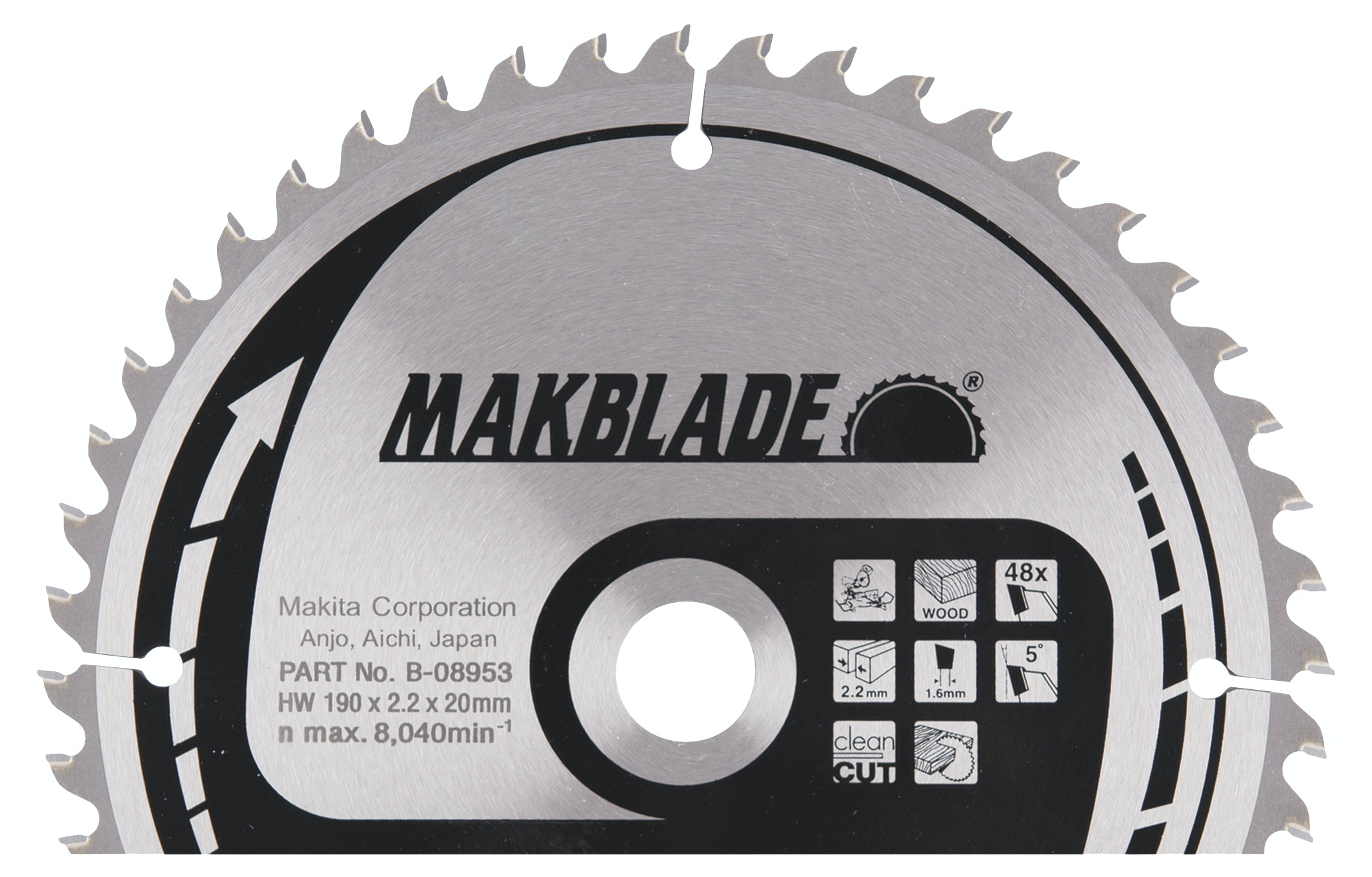 Sågklinga Makita 190x20x2,2mm Z-48