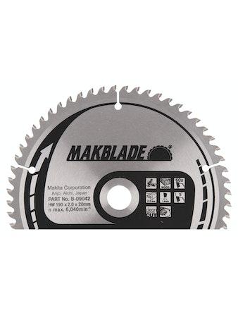 Sågklinga Makita 190x20x2,0mm Z-60