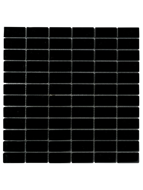 MOSAIIKKI CRISTL 2,3X4,8 BLACK 30X30 MUSTA