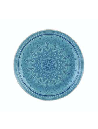 Тарелка Tongo голубая 20,5 см PL-205b
