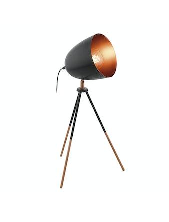 Bordslampa Eglo Chester E27 Svart/Koppar