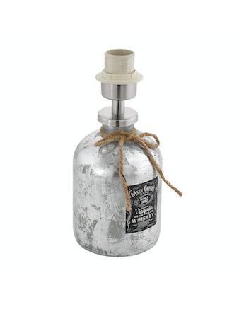 Lampfot Mojada E27 Whiskyflaska Silver