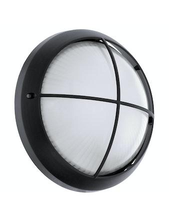 Vägglampa Eglo Sions Led Ø260mm Svart