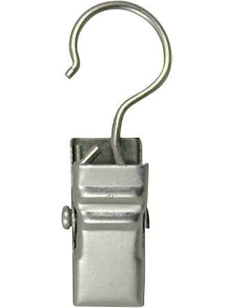 Зажим для колец D28 никелированный 10 шт металл