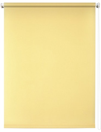 Штора рулонная 80х175 Плайн светло-желтый