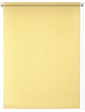 Штора рулонная 140х175 Плайн светло-желтый