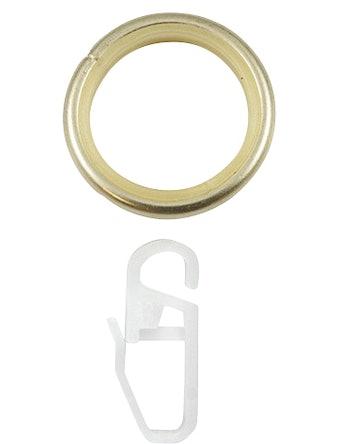 Кольцо D16 Ост с крючком латунь 10 шт