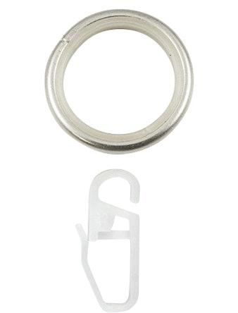 Кольцо D16 Ост с крючком сталь 10 шт