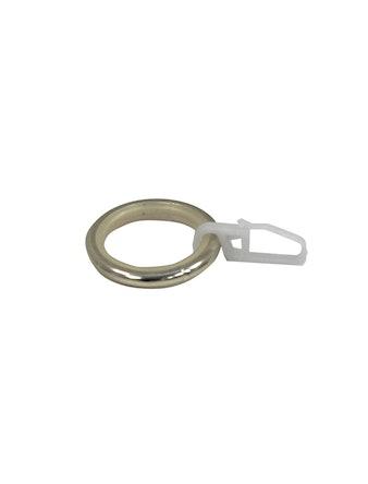 Кольцо D16 Ост с крючком, бронза, 10 шт